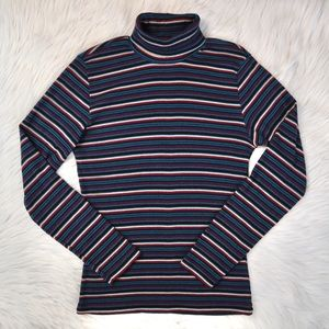 Vintage MK Knits Striped Turtleneck